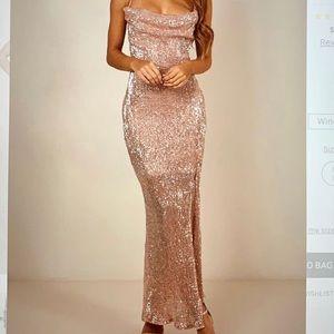Rose Gold showpo. Dress